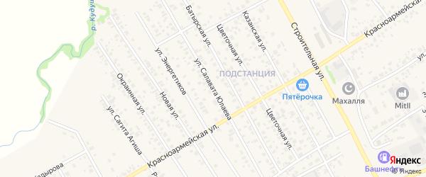 Улица Салавата Юлаева на карте села Кушнаренково с номерами домов