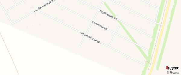 Чишминская улица на карте села Кушнаренково с номерами домов