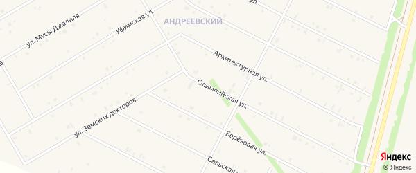Олимпийская улица на карте села Кушнаренково с номерами домов