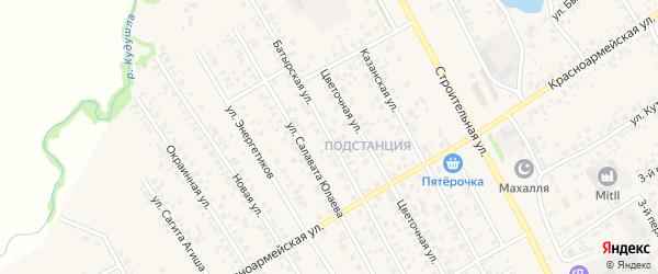 Батырская улица на карте села Кушнаренково с номерами домов