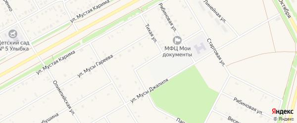 Парковый переулок на карте села Кушнаренково с номерами домов