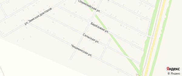 Сельская улица на карте села Кушнаренково с номерами домов