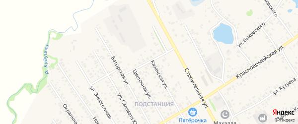 Заводская улица на карте села Кушнаренково с номерами домов