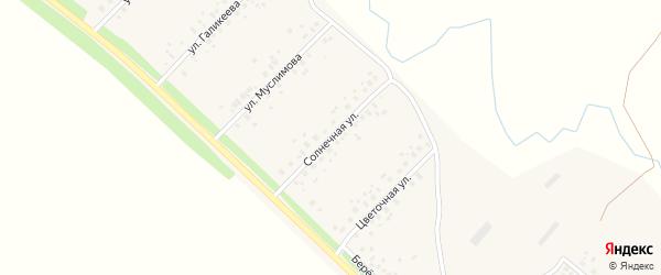 Солнечная улица на карте села Еремеево с номерами домов