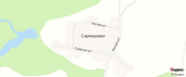Лесная улица на карте деревни Сармашево с номерами домов