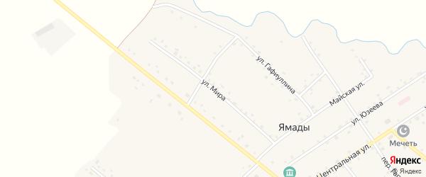 Улица Мира на карте села Ямады с номерами домов
