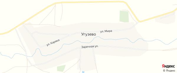 Карта деревни Угузево в Башкортостане с улицами и номерами домов