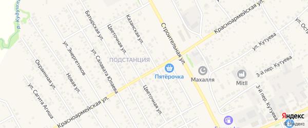 Казанская улица на карте села Кушнаренково с номерами домов