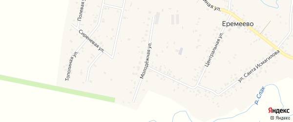 Молодежная улица на карте села Еремеево с номерами домов