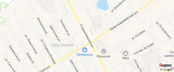 Строительная улица на карте села Кушнаренково с номерами домов