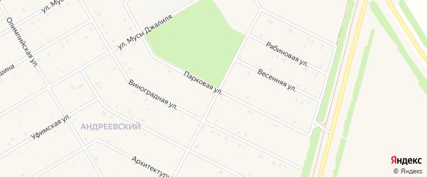 Парковая улица на карте села Кушнаренково с номерами домов