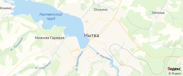 Карта Нытвы с районами, улицами и номерами домов
