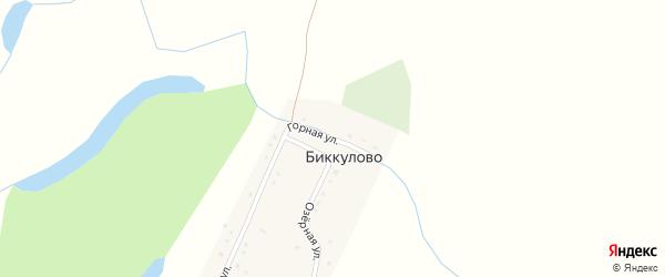 Горная улица на карте деревни Биккулово с номерами домов