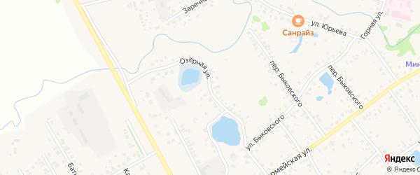 Озерная улица на карте села Кушнаренково с номерами домов