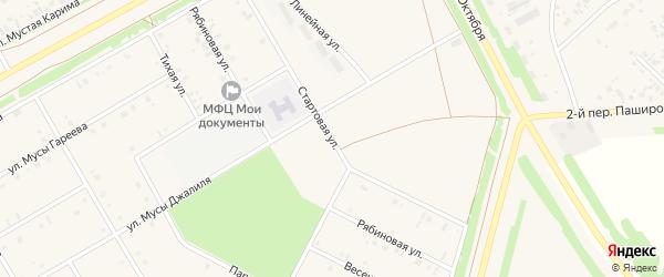 Стартовая улица на карте села Кушнаренково с номерами домов