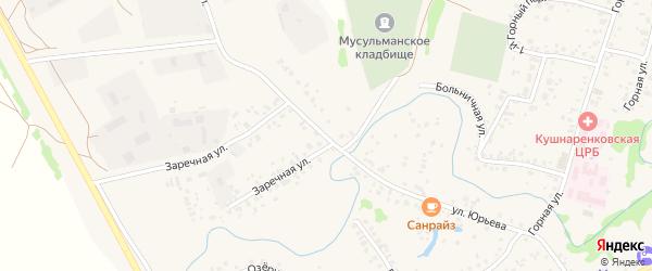 Улица Юрьева на карте села Кушнаренково с номерами домов