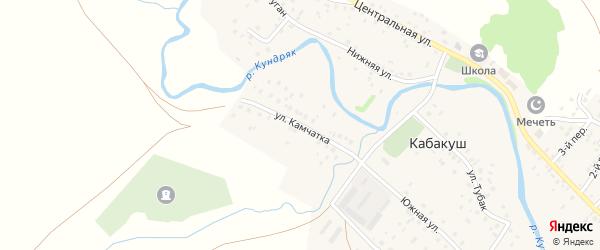 Улица Камчатка на карте села Кабакуша с номерами домов