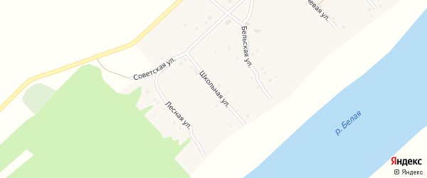 Школьная улица на карте села Печенкино с номерами домов