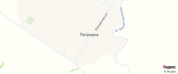 Петровская улица на карте деревни Петровки с номерами домов