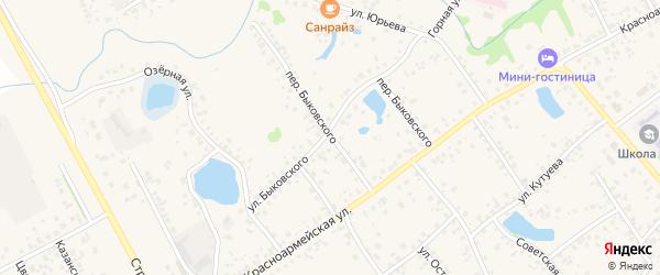 Переулок Быковского на карте села Кушнаренково с номерами домов
