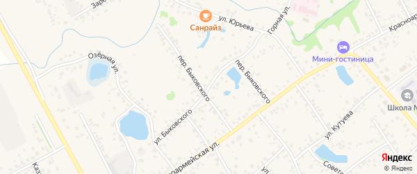 Улица Быковского на карте села Кушнаренково с номерами домов