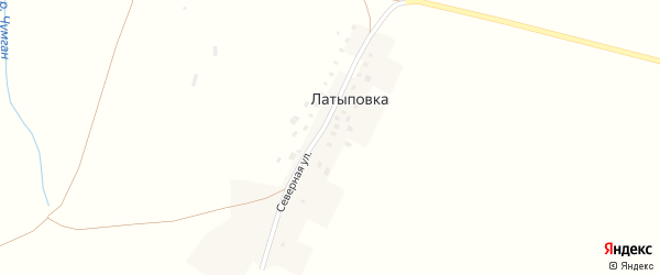 Северная улица на карте деревни Латыповки с номерами домов