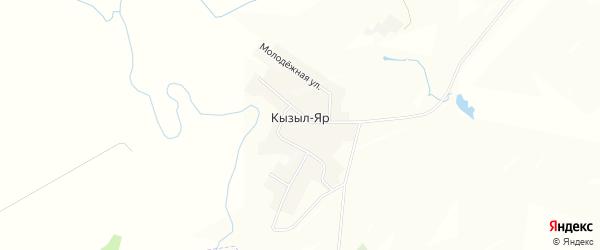 Карта деревни Кызыла-Яра в Башкортостане с улицами и номерами домов