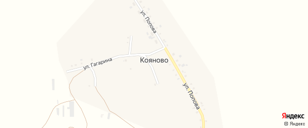 Улица Архипова на карте села Кояново с номерами домов