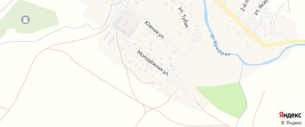 Молодежная улица на карте села Кабакуша с номерами домов