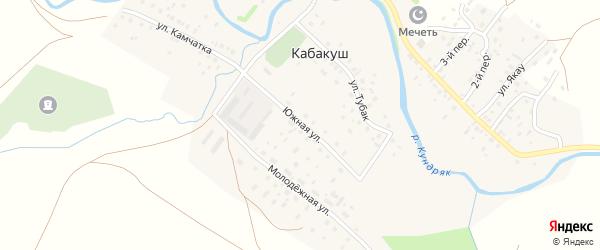 Южная улица на карте села Кабакуша с номерами домов