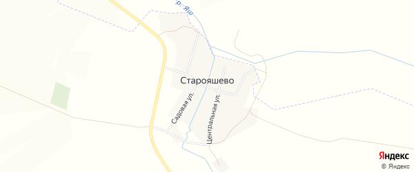 Карта деревни Старояшево в Башкортостане с улицами и номерами домов