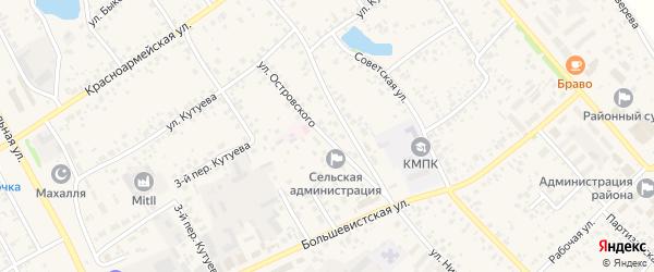 Улица Островского на карте села Кушнаренково с номерами домов