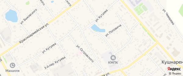 Улица Г.Кадырова на карте села Кушнаренково с номерами домов