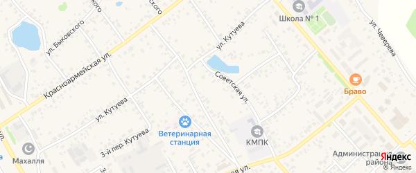 Улица М.Джалиля на карте села Кушнаренково с номерами домов