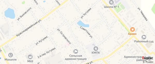 Улица Горького на карте села Кушнаренково с номерами домов