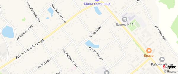 Улица Кутуева на карте села Кушнаренково с номерами домов