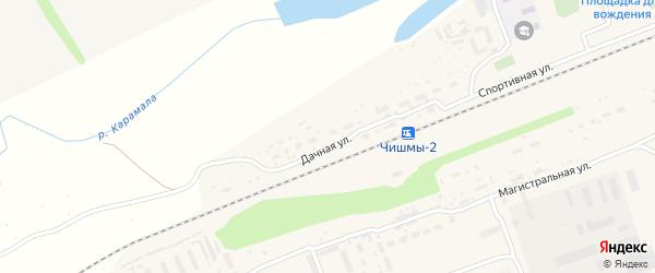 Фестивальная улица на карте поселка Чишмы с номерами домов