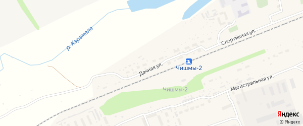Улица Мажита Гафури на карте поселка Чишмы с номерами домов