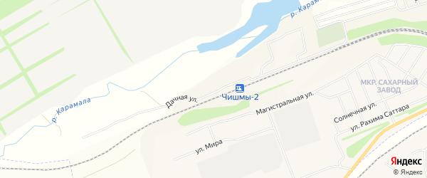 СТ СНО Кардаш на карте поселка Чишмы с номерами домов