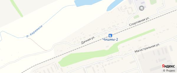 Парковая улица на карте поселка Чишмы с номерами домов