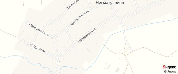 Набережная улица на карте села Нигматуллино с номерами домов