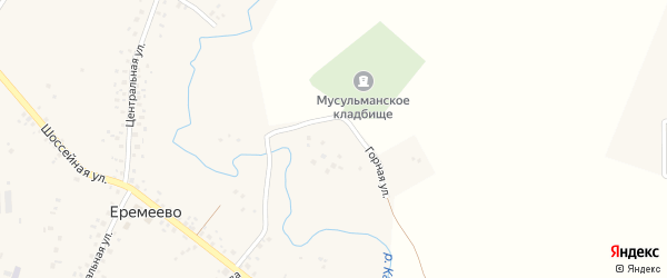 Горная улица на карте села Еремеево с номерами домов