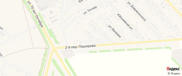 Улица Якупова на карте села Кушнаренково с номерами домов