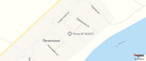 Садовая улица на карте села Печенкино с номерами домов