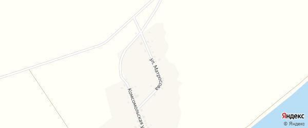 Улица Матросова на карте села Нижнелачентау с номерами домов