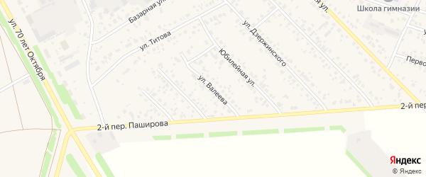 Улица Валеева на карте села Кушнаренково с номерами домов