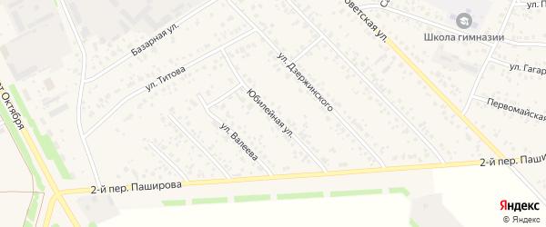 Юбилейная улица на карте села Кушнаренково с номерами домов