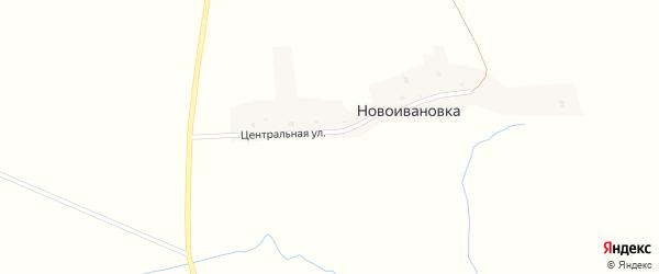 Центральная улица на карте деревни Новоивановки с номерами домов