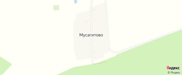 Центральная улица на карте деревни Мусагитово с номерами домов