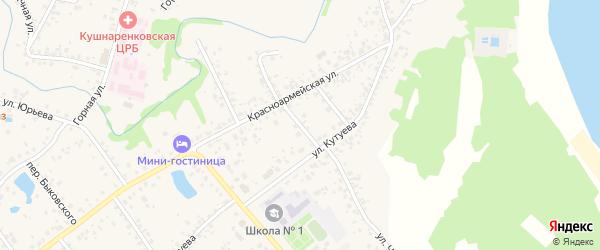 Кутуева 2-й переулок на карте села Кушнаренково с номерами домов